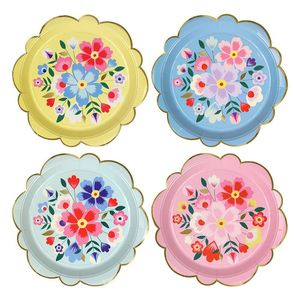 Isot lautaset (Bright Floral)