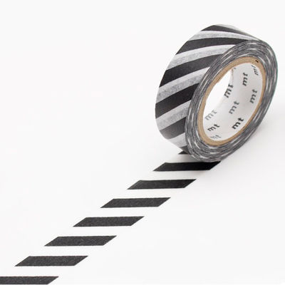 mt masking tape- diagonal stripe black