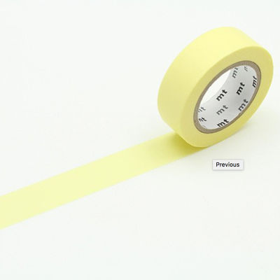 mt masking tape- pastel yellow
