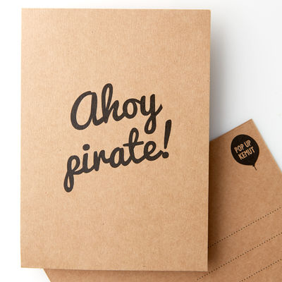 Ahoy pirate! -postikortti